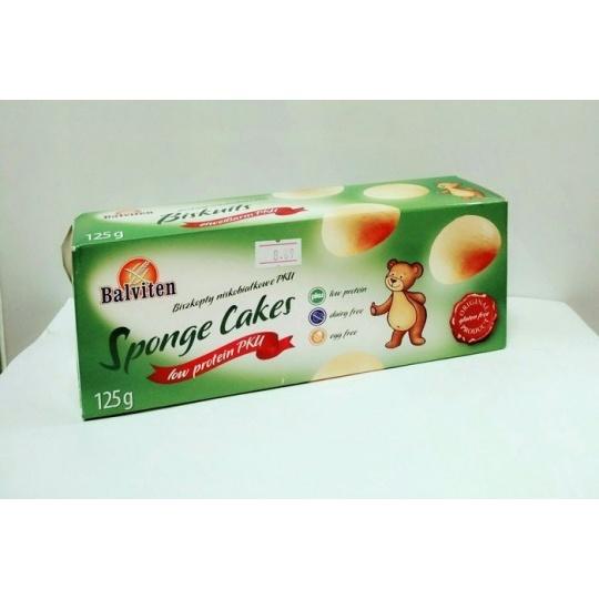 """Печенье бисквитное  низкобелковое для больных фенилкетонурией """"Sponge Cakes"""" Balviten, 125 г"""