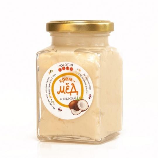 Крем-мёд с кокосом «Золотой Улей» 300гр