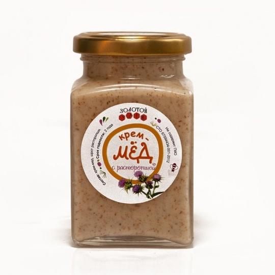 Крем-мёд с расторопшей «Золотой Улей» 300гр