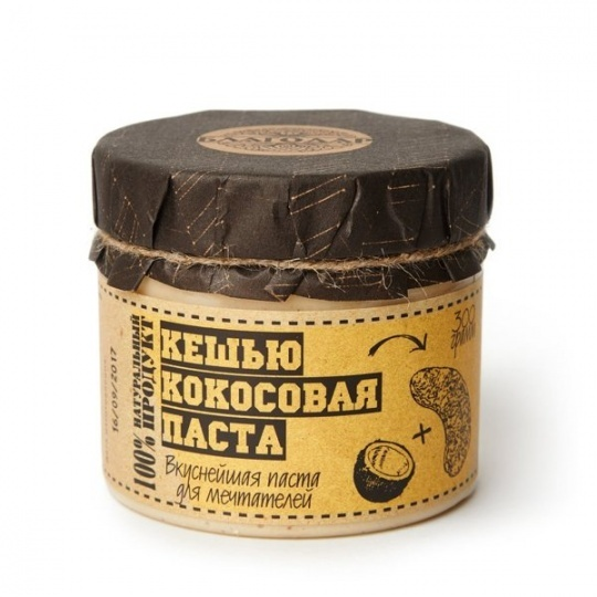 """КЕШЬЮ-КОКОСОВАЯ ПАСТА """"БЛАГОДАР"""" 300 Г"""